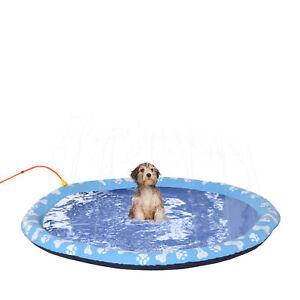 170 cm Splash Sprinkler Pad für Hunde Spritz Anti-Rutsch Outdoor PVC Blau