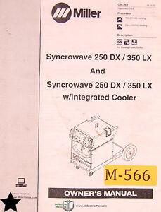 miller syncrowave 250dx 350lx welder owner s manual ebay rh ebay com miller syncrowave 350 service manual Miller Syncrowave 300 Owner's Manual