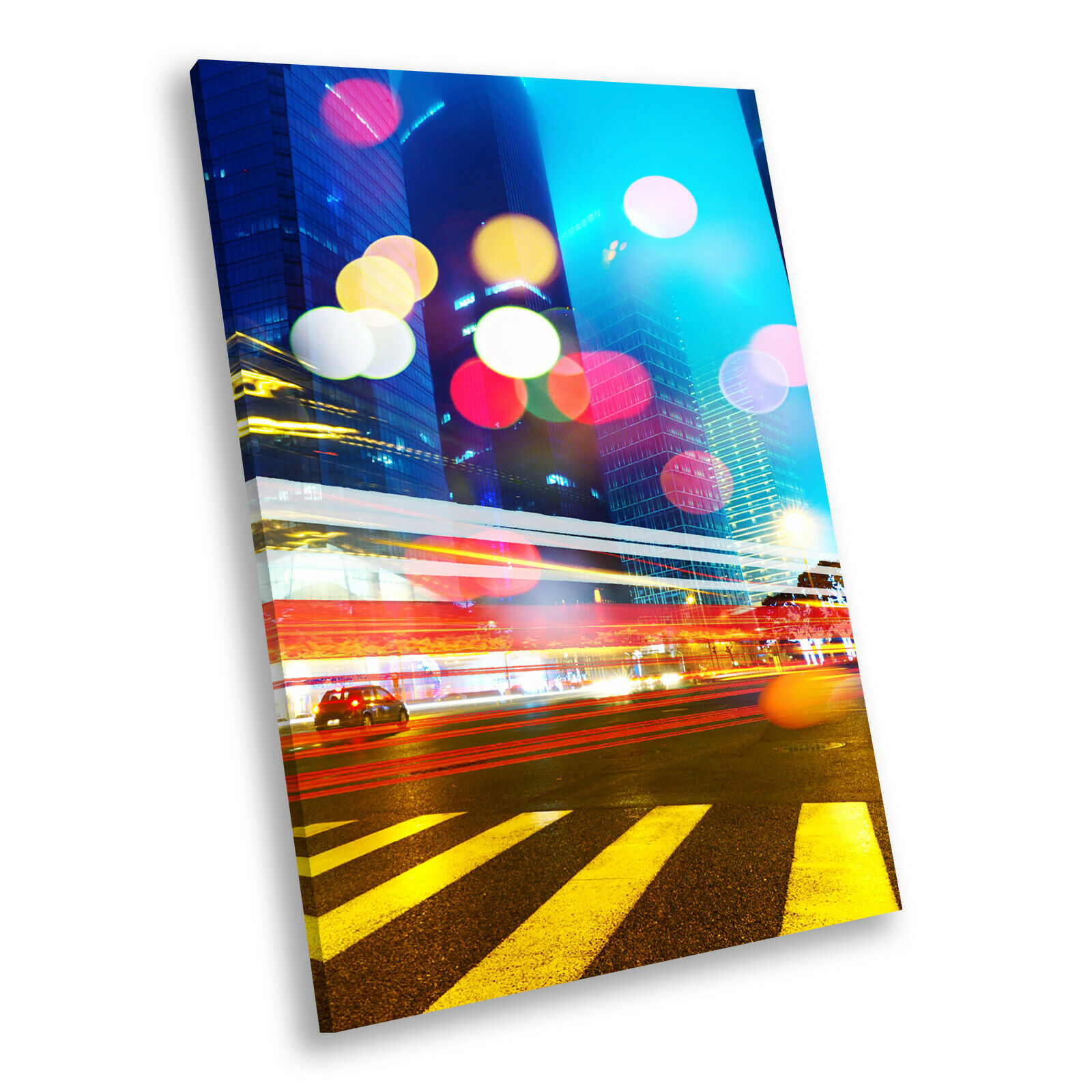 Colourful New York City Portrait Scenic Canvas Wall Art Large Picture Prints