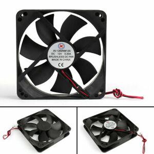 1xDC-Brushless-Ventilateur-de-Refroidissement-12V-12025s-120x120x25mm-0-2A-2Pi