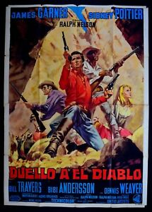 M129-Manifesto-4F-Duelo-En-El-Diablo-James-Garner-Sidney-Poitier-Weaver-Travers