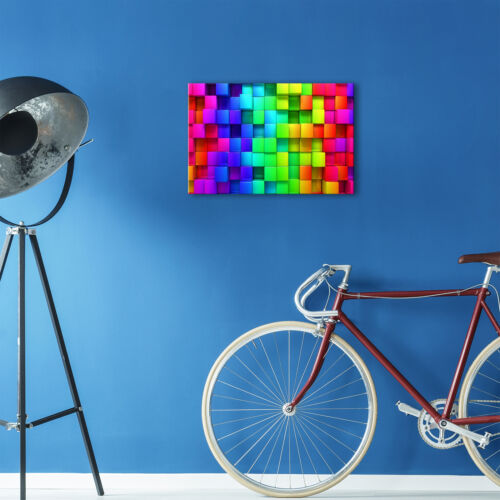 ZAB384 Colourful Cool Funky Modern Canvas Abstract Home Wall Art Picture Prints