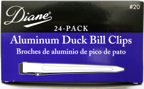 "DIANE 3.5/"" ALUMINUM DUCK BILL CLIPS 24-PACK SILVER #20"