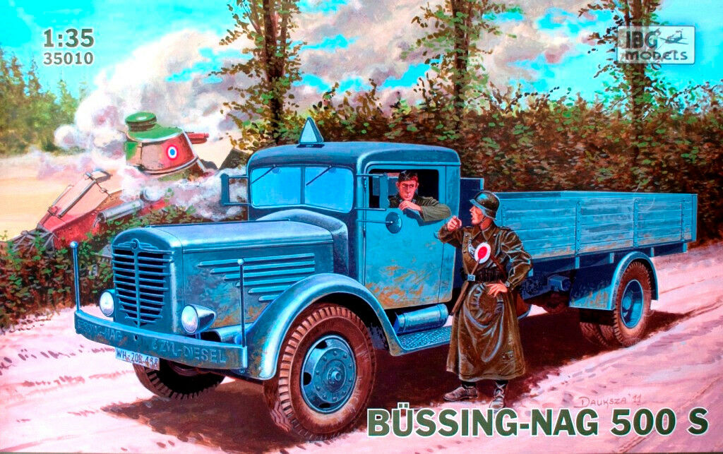 BUSSING-NAG 500 S - WW II 4x4 HEAVY LORRY (GERMAN WEHRMACHT MARKINGS) 1 35 IBG