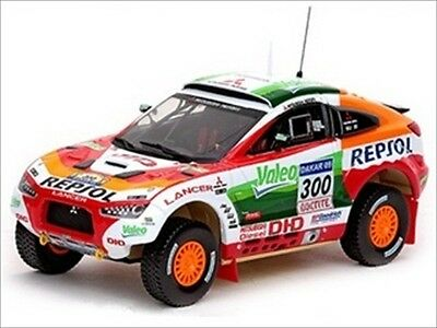 MITSUBISHI RACING LANCER 2009 DAKAR RALLY 1/43 MODEL CAR BY VITESSE 43431