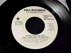 Details about RARE ELECTRO RAP/HIP HOP 1986 DJ PROMO 45~MIXMASTER GEE The  Manipulator MCA Hear