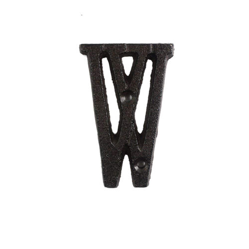 Metal Letters Numbers Cast Iron Decoration House Sign Doorplate DIY Cafe Wall