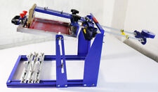 1 Color Manual Cylinder Screen Printing Machine Curved Press For Pencupbottle