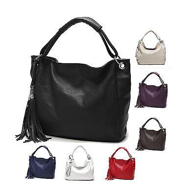Soft Cowhide Genuine Leather Tote shoulder Handbag Young Women Female Bag Purse