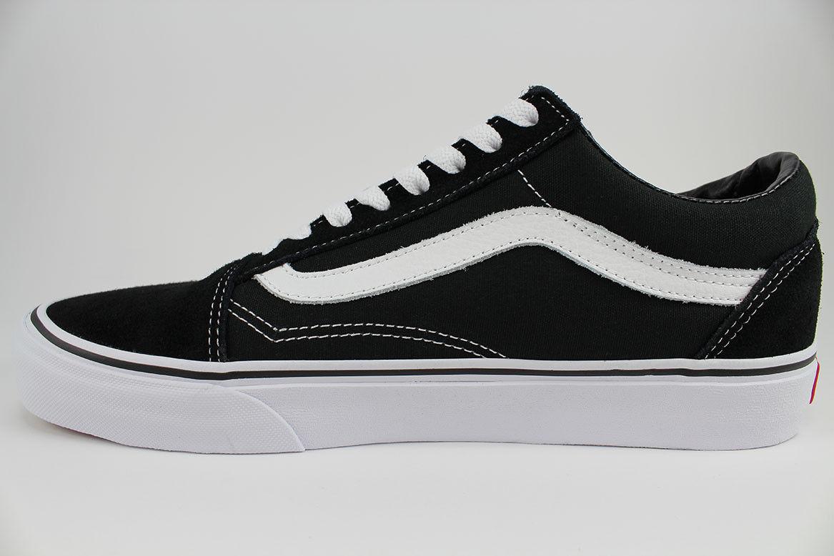 VANS Old Skool Vn000w9t6bt Black True White Canvas Casual Shoes Medium Youth Blacks 13.5