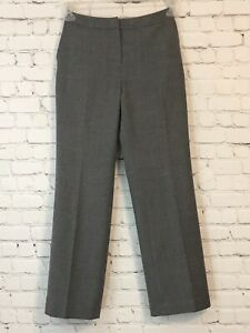 Talbots-Petites-Womens-Dress-Pants-Size-2-Gray-Wool-Lined-Stretch-From-Italy