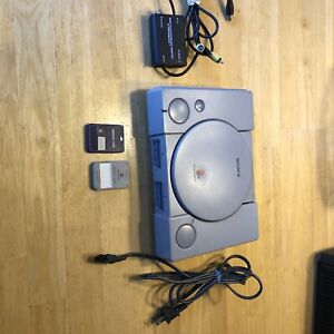 Sony Playstation 1 One PS1 SCPH9001 Console, RFU Adapter, Power Cord, 2 Mem Card