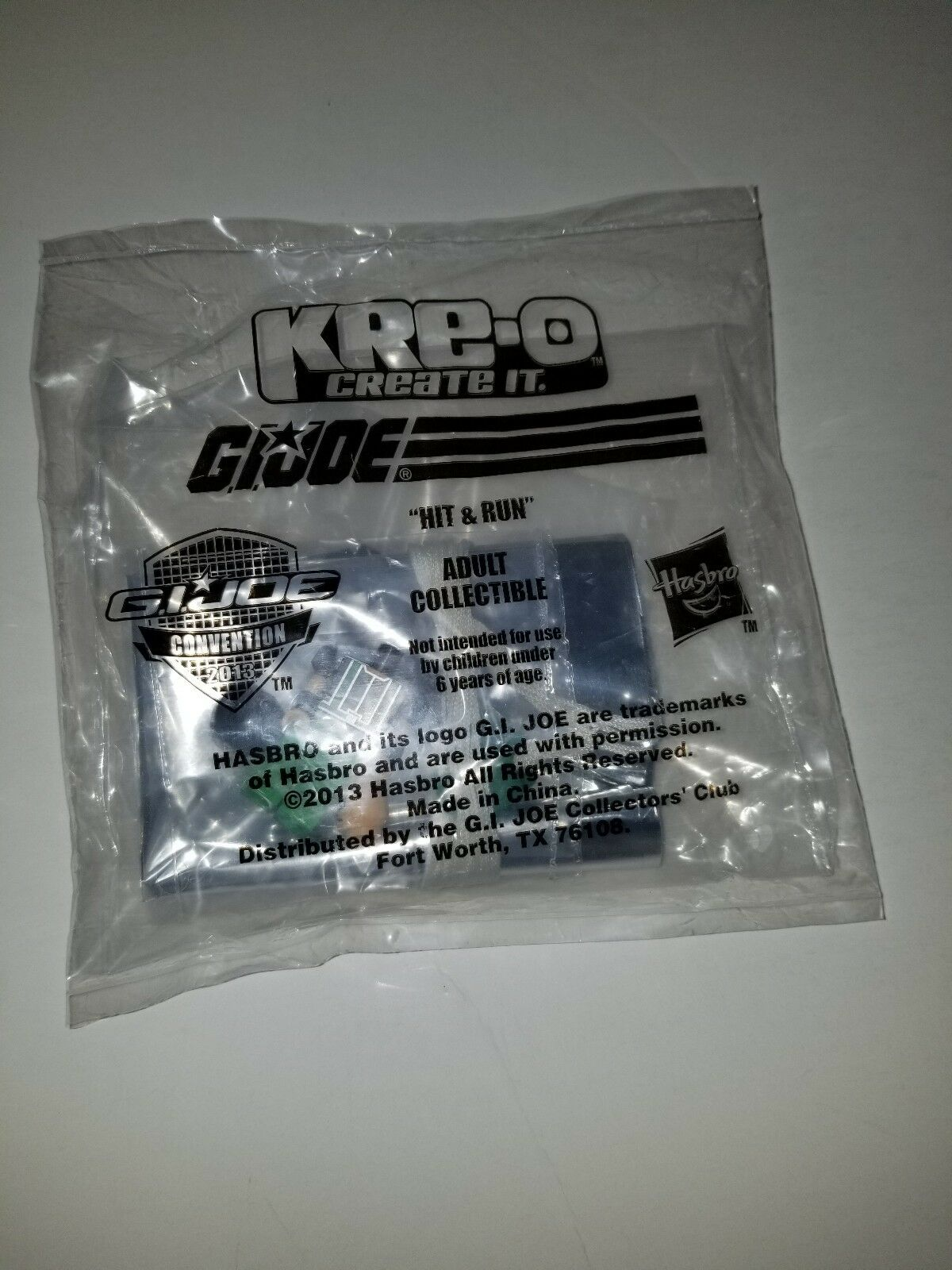 G.I.Joe GIJoe 2013 Night Force HIT & RUN Kre-o Convention Souvenir Exclusive