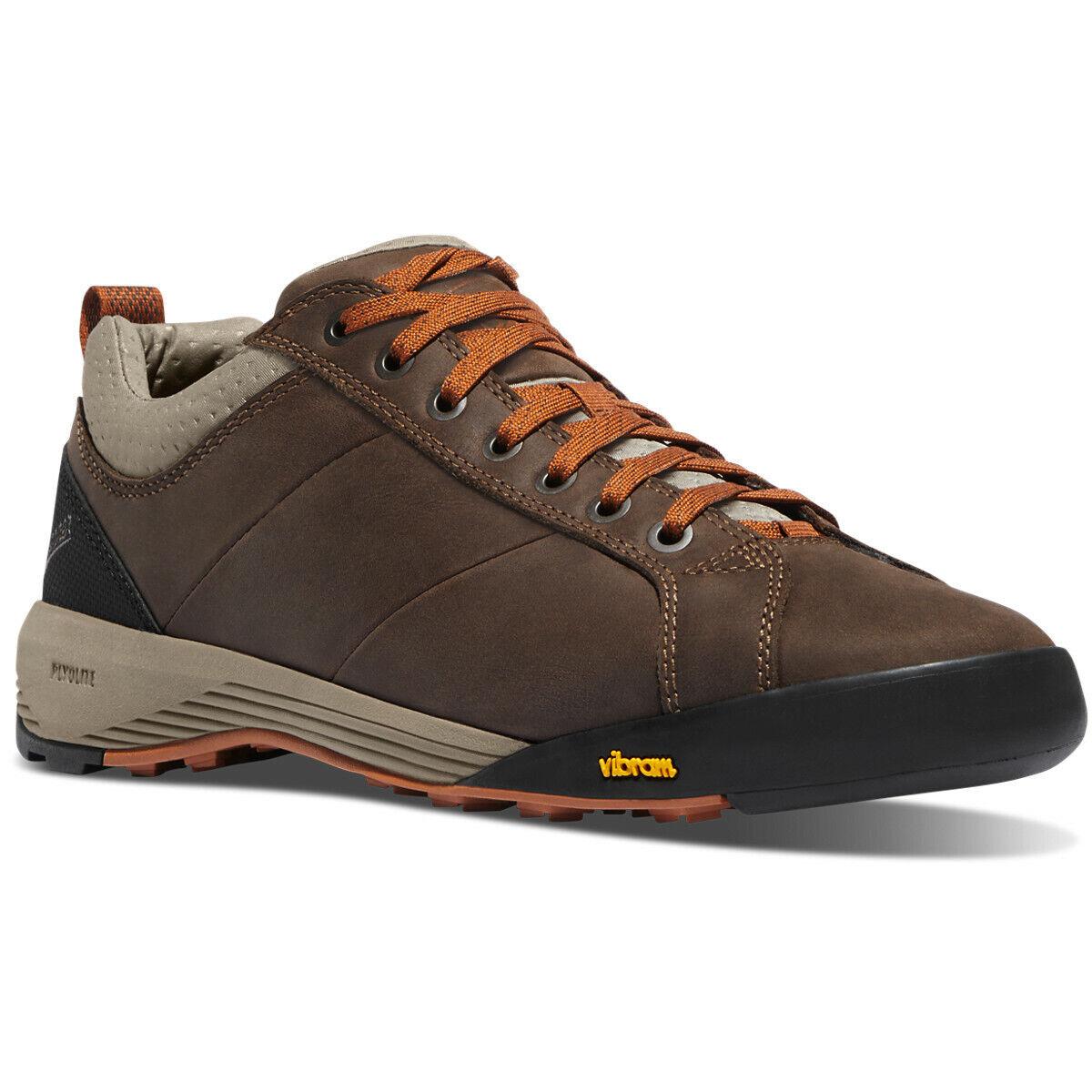 Danner Mens Camp Sherman Lightweight Trail Hiking zapatos Talla 8.5 D marrón naranja