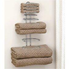 CHROME TOWEL RACK Bath Room Holder Shelf Hotel Vanity Cupboard Linen Bar Rv  Gift