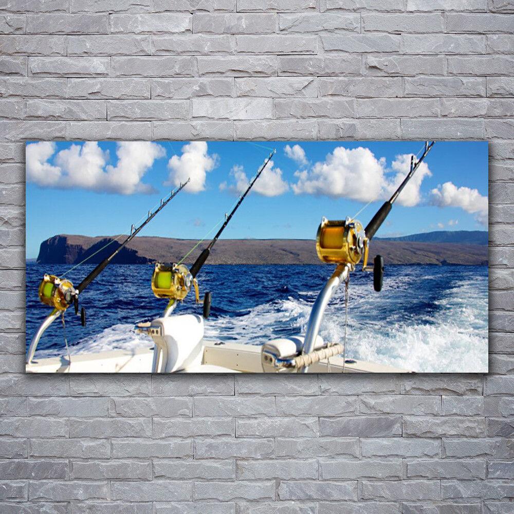 Photo sur toile Tableau Image Impression 120x60 Paysage Mer Pêche