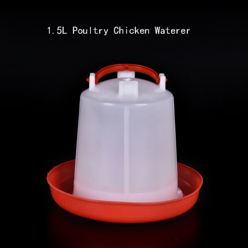 1.5LPoultry Chicken Quail Pheasant Automatic Waterers Drinker Feeder Pet Supply