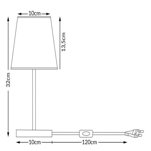 Tischlampe Nachttischlampe 2er Set Design Tischleuchte Wohnzimmerlampe Leuchte