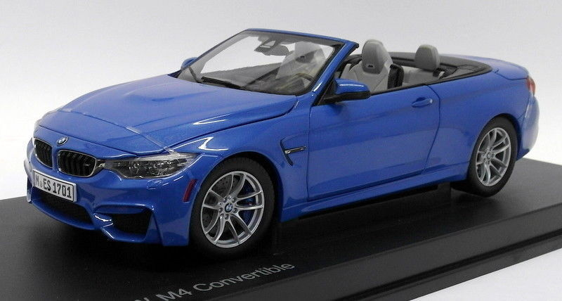 BMW M4 Congreenible in Yas Marina bluee in 1 18 Scale by Paragon