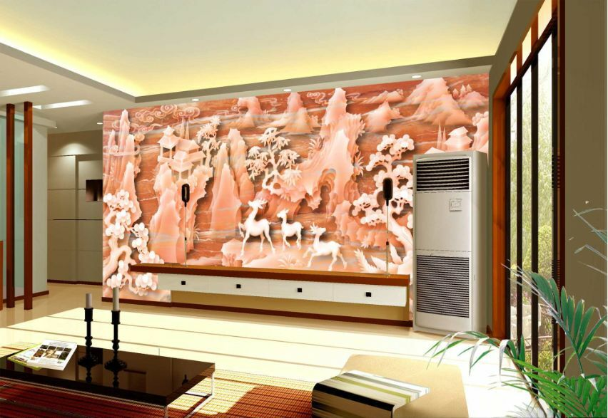 3D Orange Jade Forest Paper Wall Print Decal Wall Wall Murals AJ WALLPAPER GB