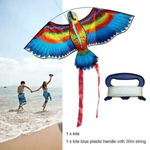 Children-Lovely-Cartoon-Parrot-Animal-Kite-With-Flying-Line-Fun-Outdoor-Toy-S6M4