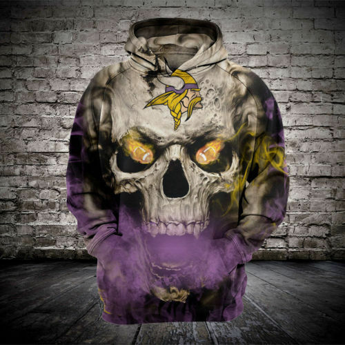 Minnesota Vikings Hoodie Hooded Sweatshirt Pullover fan NFL Football Women Men