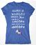 XXL I Wish I Was A Unicorn Ladies T-Shirt Tee Top Sizes Small