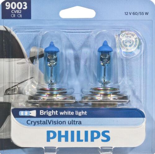 Twin Blister Pack Philips 9003CVB2 Headlight Bulb-Crystalvision Ultra