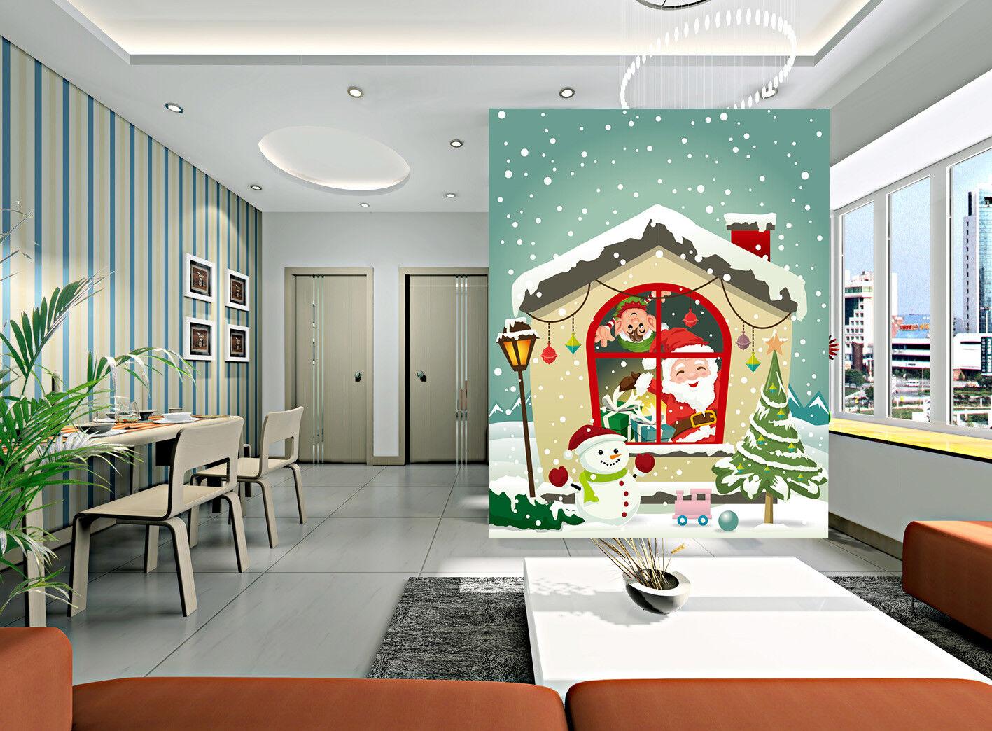 3D Happy Christmas 849 Wall Paper Murals Wall Print Wall Wallpaper Mural AU Kyra