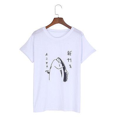 Fish Gun Short Sleeve T-shirt Tee Top Unisex Summer Fashion Women Girl New 1 Pc