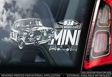 Etiqueta engomada de la ventana de coche Mini - - Rally Monte Carlo'64-Morris Cooper S WRC-TYP2