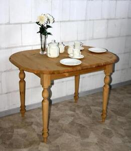 ausziehtisch holz kiefer massiv gelaugt ge lt esstisch tisch ausziehbar oval ebay. Black Bedroom Furniture Sets. Home Design Ideas