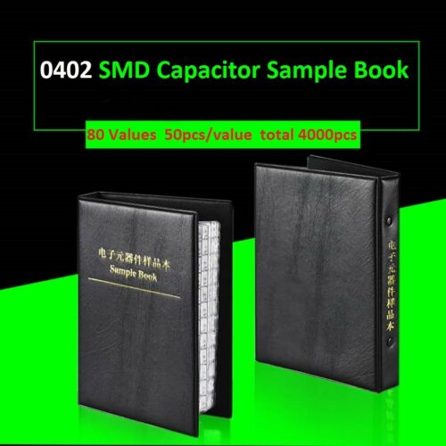 0402 SMD Capacitors Components Samples Book SMT Capacitor Assorted 80 Values Kit