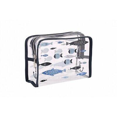 CB2201 Finest Catch Clear Fish Design Wash Bag