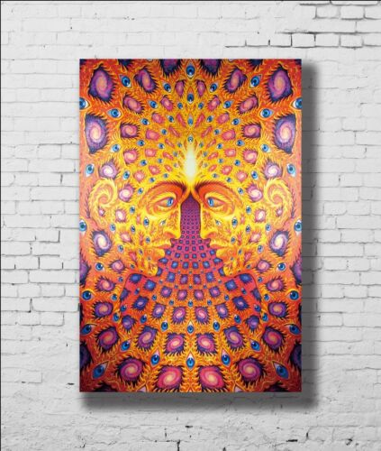 P-807 Art Trippy Psychedelic Abstract Visual God LW-Canvas Poster 21 24x36in