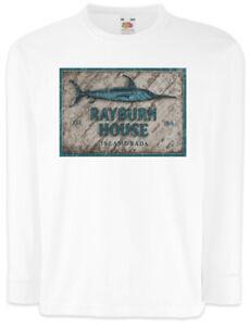 Rayburn-House-Kinder-Langarm-T-Shirt-Bloodline-Sheriff-Hotel-Symbol-Schild-Logo