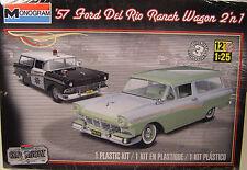 MONOGRAM 1:25 SCALE 1957 FORD DEL RIO RANCH WAGON 2-n-1 PLASTIC MODEL CAR KIT