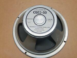 "80's Celestion G 10 S - 50 Speaker 10"" - Made In U.k.-afficher Le Titre D'origine"
