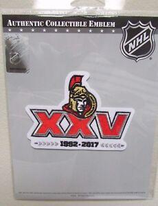 Image is loading OTTAWA-SENATORS-25th-ANNIVERSARY-NHL-HOCKEY-JERSEY-PATCH- 2d4c392ec