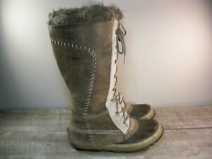 Sorel Women's Cate The Great NL1642 Brown Leather Snow Winter Tall Boots Size 7