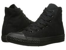 kids all black high top converse