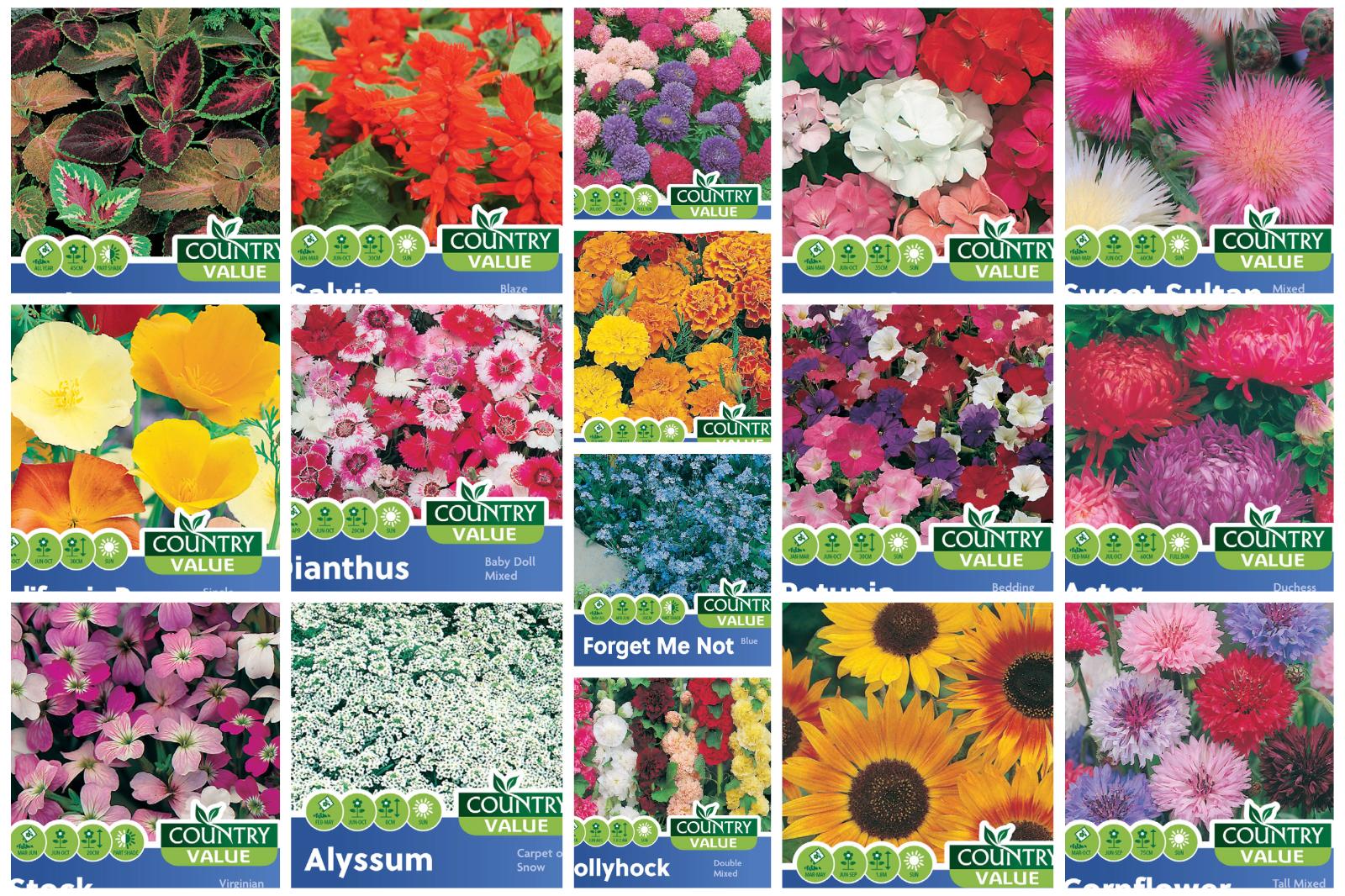 Flower Seeds Mr Fothergills Country Value