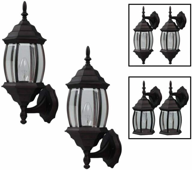 1 Light Oil Rubbed Bronze Outdoor Integrated Led Wall Mount Lantern For Sale Online Ebay
