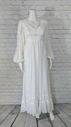 Gunne Sax Jessica McClintock 1970s Vintage White L