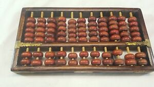 Chinese-Hardwood-Abacus-11-Columns-5-X-2-Beads-Brass-fittings-by-Red-Lion-Brand