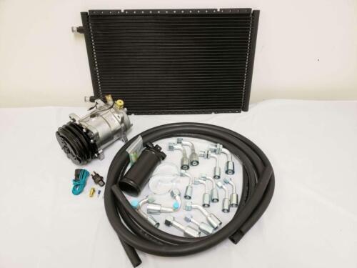 Universal AC Air Conditioning Drier Kit 14x22 Condenser Plain Compressor Hoses