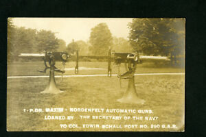 US-Post-Card-w-Stamp-Real-Photo-Automatic-Weapons-Rare