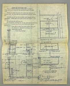 14x11 1962 vintage blueprint architectural rendering mid century image is loading 14 034 x11 034 1962 vintage blueprint architectural malvernweather Image collections