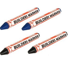 NEW 4 X Markal mark all Marker wax crayon weather//fade resistant RED /& BLUE