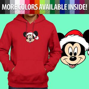 c3cc51e6926 Image is loading Mickey-Mouse-Head-Santa-Hat-Disney-Christmas-Pullover-